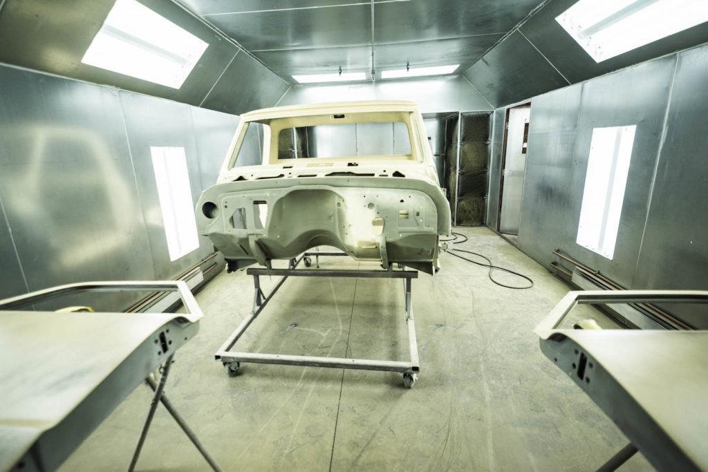 Bouchard Restoration - paint booth